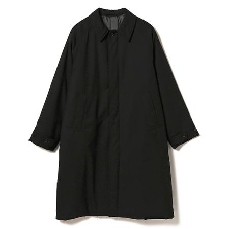 BEAMS(ビームス) 2019 イージーフィット バルカラー コート BLACK