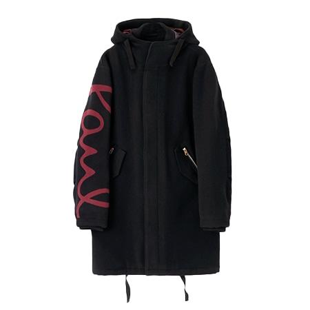 Paul Smith(ポールスミス) 2019AW ビッグロゴ フーデッドコート ブラック