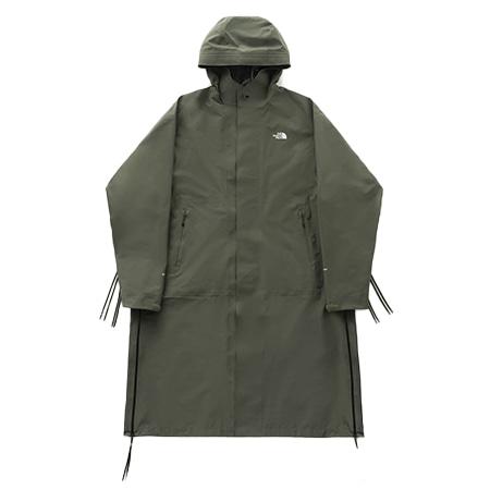 THE NORTH FACE(ザノースフェイス)×HYKE_19AW GTX PRO Hooded Coat フード付きGORE-TEXサイドジップマウンテンロングコート Olive Drab