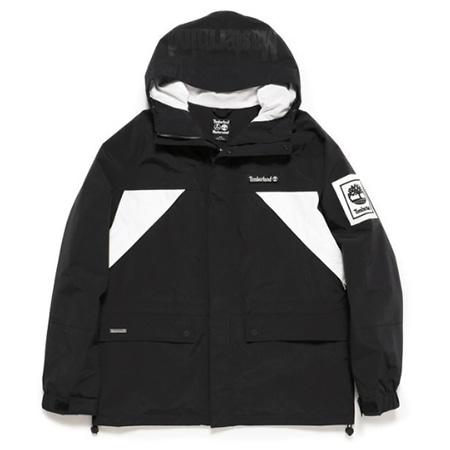 Timberland(ティンバーランド)x mastermind JAPAN(マスターマインドジャパン) 2019AW メンズ ウェザー ブレーカー ブラック/ホワイト