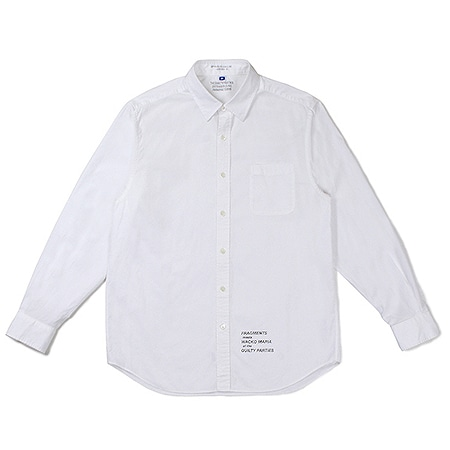 WACKO MARIA(ワコマリア)×fragment design(フラグメントデザイン) 2019 GP-R-03-BLANKLINE-JOHNNY-B – BROAD REGULAR COLLAR SHIRT WHITE