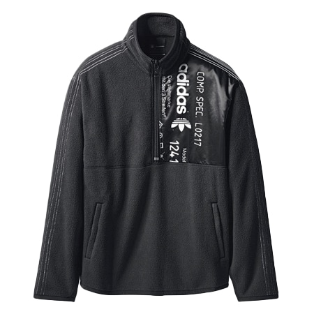 ALEXANDER WANG(アレキサンダーワン)×Adidas(アディダス)17AW AW Fleece Polar Half Zip Top Black