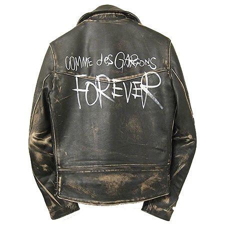 COMME des GARCONS(コムデギャルソン)×LEWIS LEATHERS(ルイスレザーズ)12AW FOREVER ライトニング ライダースジャケット 青山店限定 BLACK