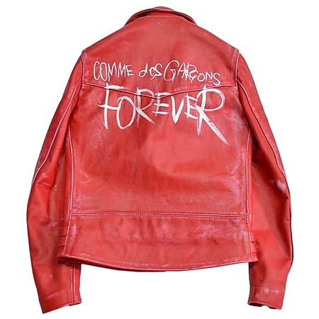 COMME des GARCONS(コムデギャルソン)×LEWIS LEATHERS(ルイスレザーズ)14AW FOREVER ライトニング ライダースジャケット 青山店限定 RED