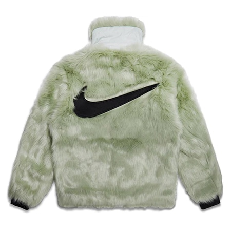 NIKE(ナイキ)×AMBUSH(アンブッシュ)18AW Reversible Faux Fur Coat バックロゴリバーシブルフェイクファーコート GREEN