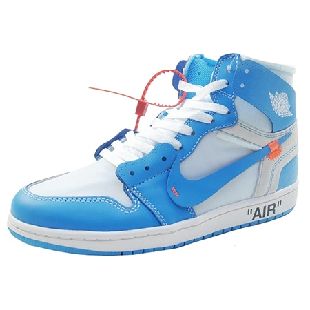 OFF-WHITE(オフホワイト)×NIKE(ナイキ)18SS AIR JORDAN 1 NRG RETRO HIGH OG WHITE/CONE/DARK POWDER BLUE