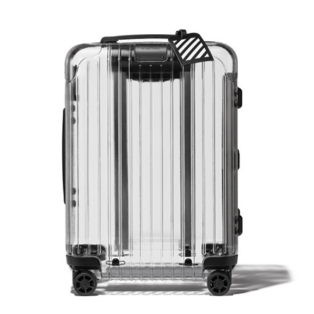 RIMOWA(リモワ)×OFF-WHITE(オフホワイト)18SS TRANSPARENT LUGGAGE Essential model 透明スーツケース 37L