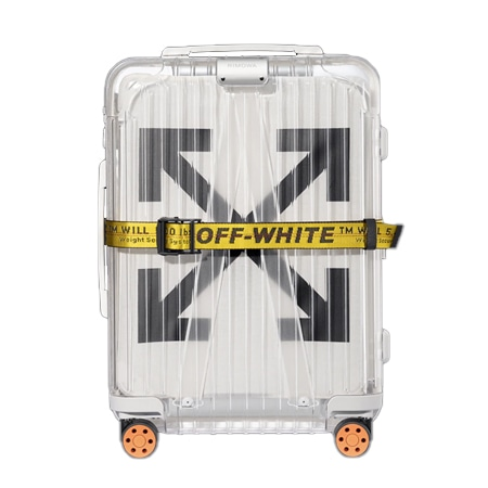 RIMOWA(リモワ)×OFF-WHITE(オフホワイト)18SS Essential See Through White 透明スーツケース 36L