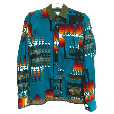 sacai(サカイ)×Pendleton(ペンドルトン)19SS ドローコードシャツ