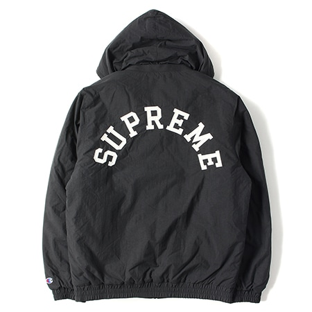 Supreme(シュプリーム)×Champion(チャンピオン)15AW Puffy Jacket パフィージャケット BLACK