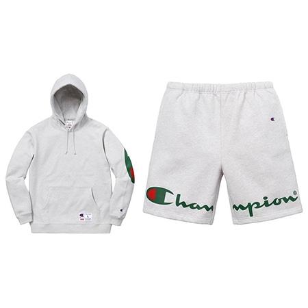 Supreme(シュプリーム)×Champion(チャンピオン)18SS Hooded Sweatshirt & Sweatshort セットアップスウェット