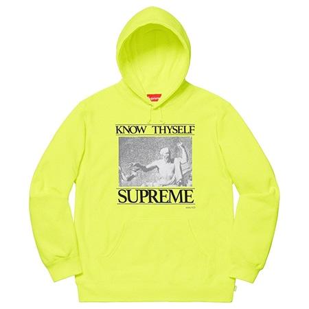 Supreme(シュプリーム)×Champion(チャンピオン)19SS Know Thyself Hooded Sweatshirt ネオンカラー パーカ