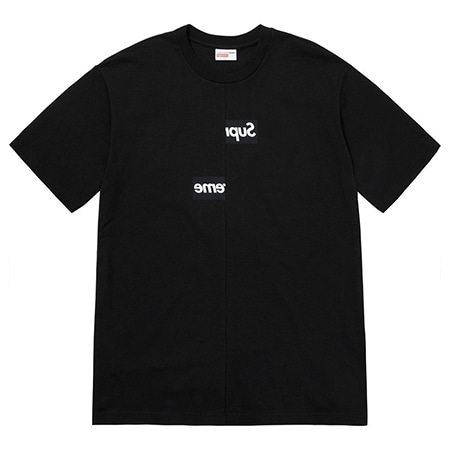 Supreme(シュプリーム)×Comme des Garcons SHIRT(コムデギャルソンシャツ)18AW Split Box Logo Tee スプリットボックスロゴTシャツ