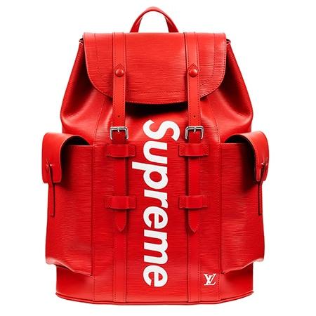 Supreme(シュプリーム)×Louis Vuitton(ルイヴィトン)17-18AW クリストファー エピレザーバックパック レッド