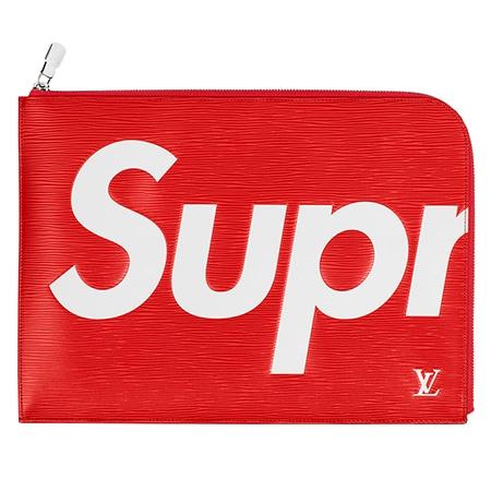 Supreme(シュプリーム)×Louis Vuitton(ルイヴィトン)17-18AW Pochette Jour GM クラッチバッグ