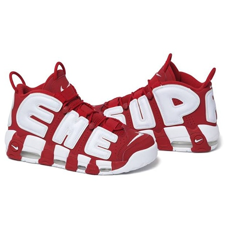 Supreme(シュプリーム)×NIKE(ナイキ)17SS Air More Uptempo RED