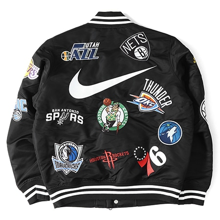 Supreme(シュプリーム)×NIKE(ナイキ)18SS NBA Teams Satin Warm-Up Jacket