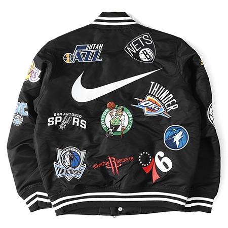 Supreme(シュプリーム)×NIKE(ナイキ)18SS NBA Teams Satin Warm-Up Jacket