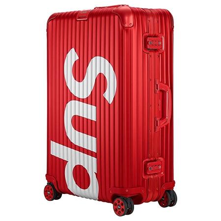 Supreme(シュプリーム)×RIMOWA(リモワ)18SS Topas Multiwheel 82L スーツケース RED