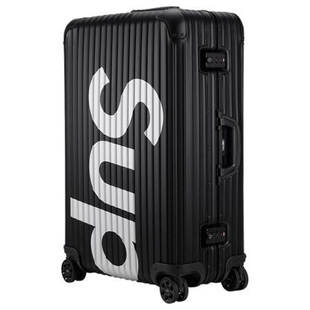 Supreme(シュプリーム)×RIMOWA(リモワ)18SS Topas Multiwheel 82L スーツケース BLACK