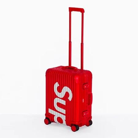 Supreme(シュプリーム)×RIMOWA(リモワ)18SS Topas Multiwheel 45L スーツケース RED