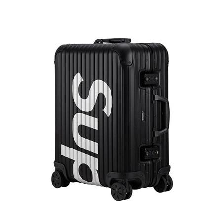 Supreme(シュプリーム)×RIMOWA(リモワ)18SS Topas Multiwheel 45L スーツケース BLACK