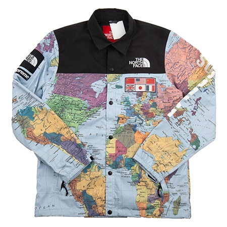 Supreme(シュプリーム)×THE NORTH FACE(ノースフェイス)14SS Expedition Coaches Jacket MAP