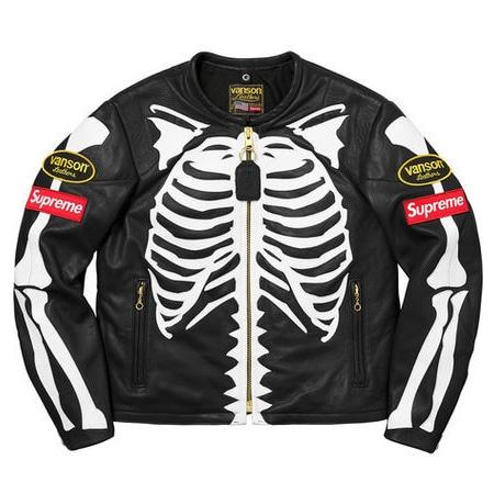 Supreme(シュプリーム)×VANSON(バンソン)17AW Leather Bones Jacket レザーボーンズジャケット