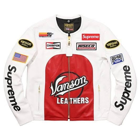 Supreme(シュプリーム)×VANSON(バンソン)17SS Leather Star Jacket レザースタージャケット