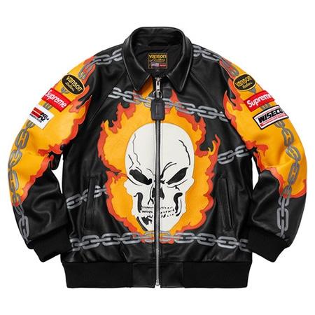 Supreme(シュプリーム)×VANSON(バンソン)19SS Ghost Rider Jacket ゴーストライダージャケット