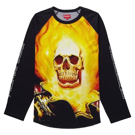 Supreme(シュプリーム)×VANSON(バンソン)19SS Ghost Rider Raglan L/S Top ベースボールシャツ