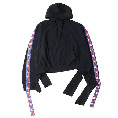 VETEMENTS(ヴェトモン)×Champion(チャンピオン)17SS In Progress Hoodie with Tape