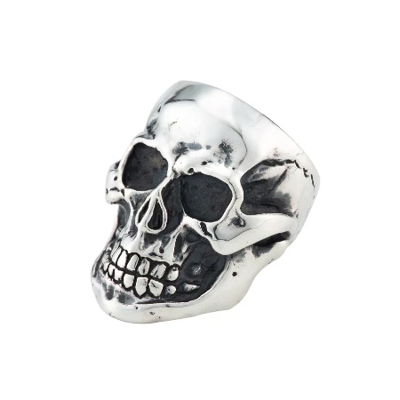 A&G(エーアンドジー) 19AW LARGE SKULL RING -MIRROR SURFACE-