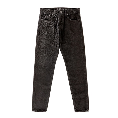 A&G(エーアンドジー) 19AW LIMITED DENIM PANTS PYTHON CRAZY