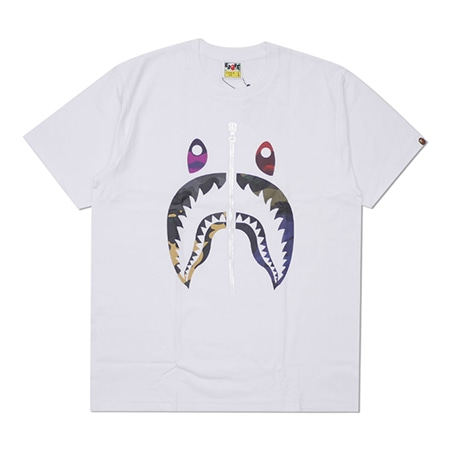A BATHING APE(アベイシングエイプ) 2019SS MIX CAMO SHARK TEE WHITE