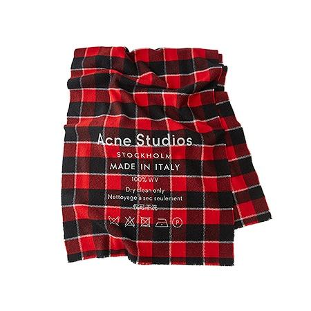 Acne Studios(アクネストゥディオズ) 19AW ロゴチェックスカーフ