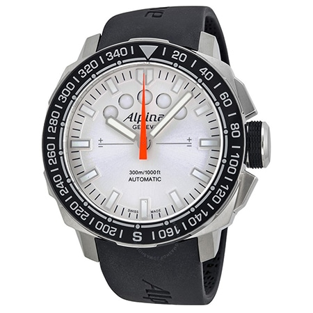 ALPINA(アルピナ) Sailing Yacht Timer White Dial Black Rubber
