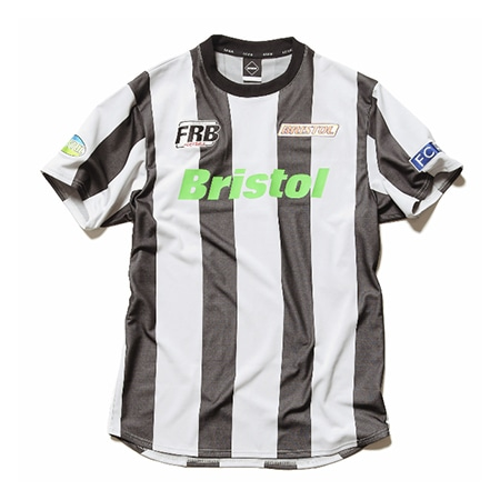 F.C.Real Bristo(エフシーレアルブリストル) STRIPE S/S TRAINING TOP A(BLACK/WHITE)