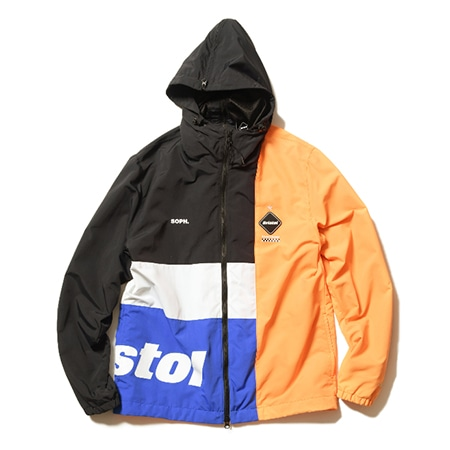 F.C.Real Bristo(エフシーレアルブリストル) COLOR BLOCK SEPARATE PRACTICE JACKET BLACK