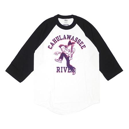 TENDERLOIN(テンダーロイン) RAGLAN 3/4 ラグラン 七分袖Tシャツ BLACKxWHITE