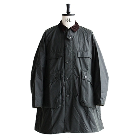 Barbour(バブアー)×KAPTAIN SUNSHINE(キャプテンサンシャイン) スタンドカラートラベラーオイルドコート
