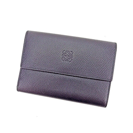 LOEWE(ロエベ) レザーミニウォレット 三つ折り財布