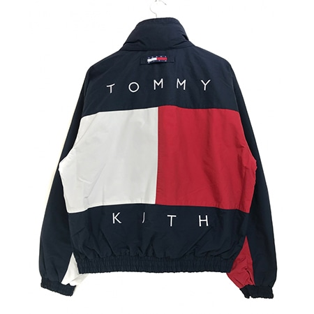TOMMY HILFIGER(トミーヒルフィガー)×KITH NYC COLORBLOCK JACKET リバーシブルナイロンジャケット