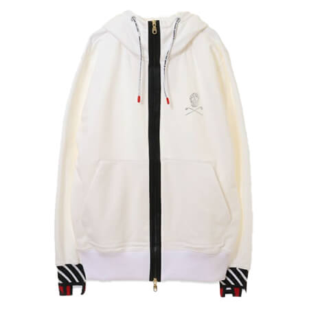MARK&LONA(マークアンドロナ)H.O.F High density Terry Zip Hoody WHITE ML-18W-C60