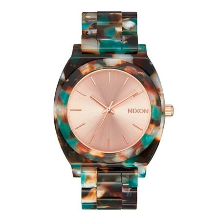 NIXON(ニクソン) THE TIME TELLER ACETATE : ROSE GOLD/MULTI JP NA3272943-00
