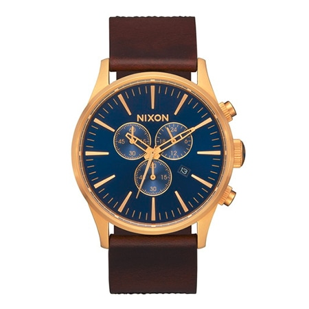 NIXON(ニクソン) THE SENTRY CHRONO LEATHER : NAVY/BROWN/BLACK NA4053210-00