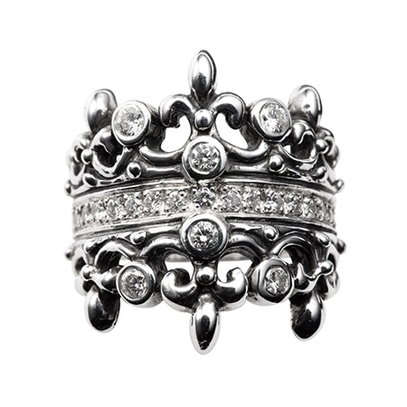 ROYAL ORDER(ロイヤルオーダー) 19AW DOUBLE TIARA WITH DIAMOND & DIAMOND