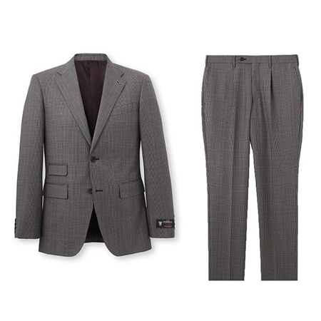 TAKEO KIKUCHI(タケオキクチ) 19AW グレンチェック スーツ Fabric by DORMEUIL