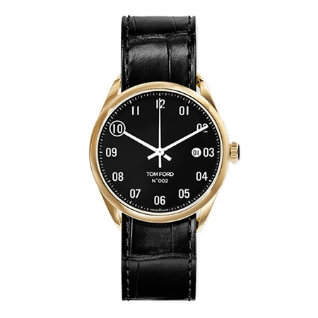 TOM FORD(トムフォード) 18K YELLOW GOLD CASE WITH BLACK DIAL