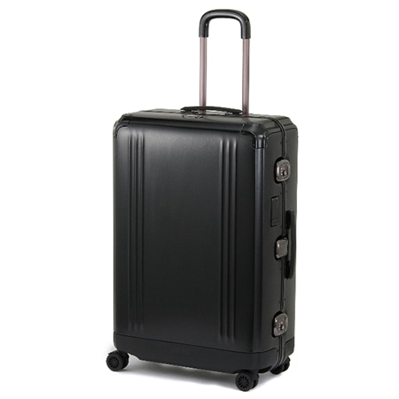 ZERO HALLIBURTON(ゼロハリバートン) Pursuit Aluminum 30″ Checked Travel Case BLACK